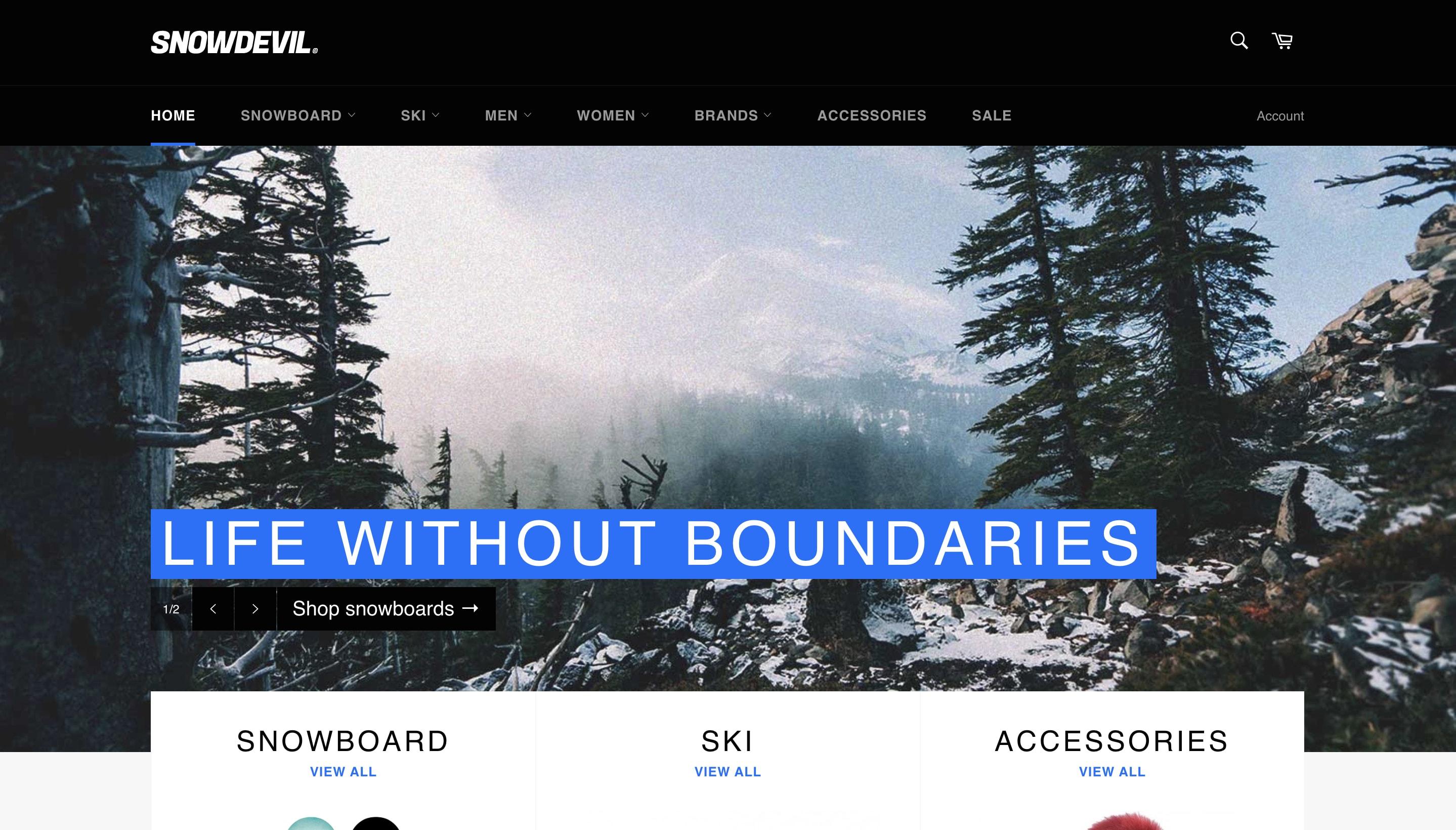 Shopify Venture theme screenshot.