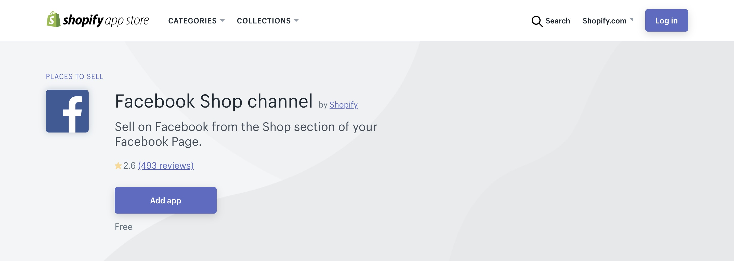 Shopify Facebook Shop channel.
