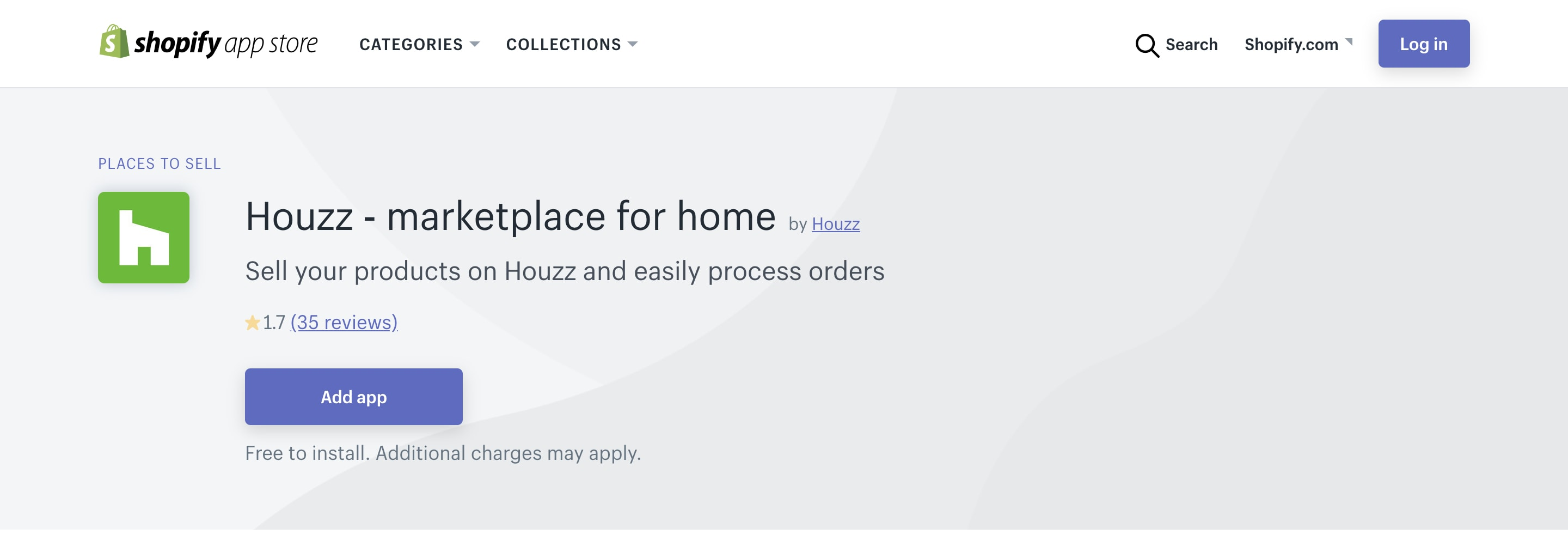 Shopify Houzz channel.