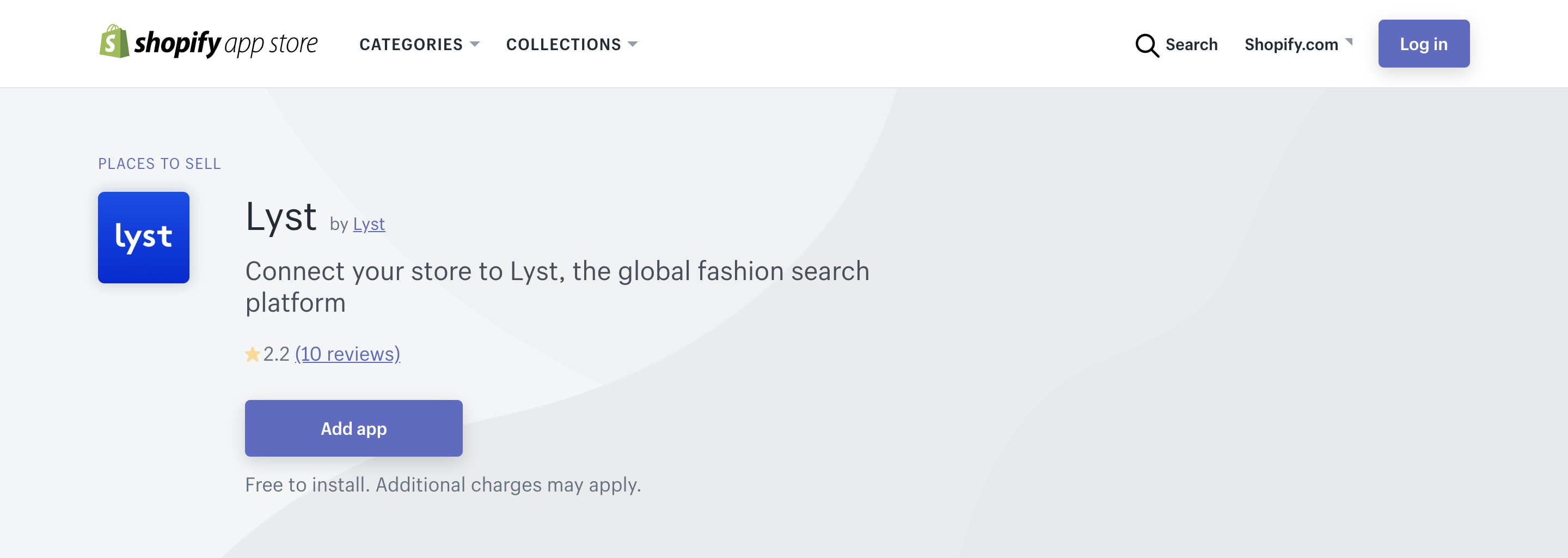 Shopify Lyst channel.