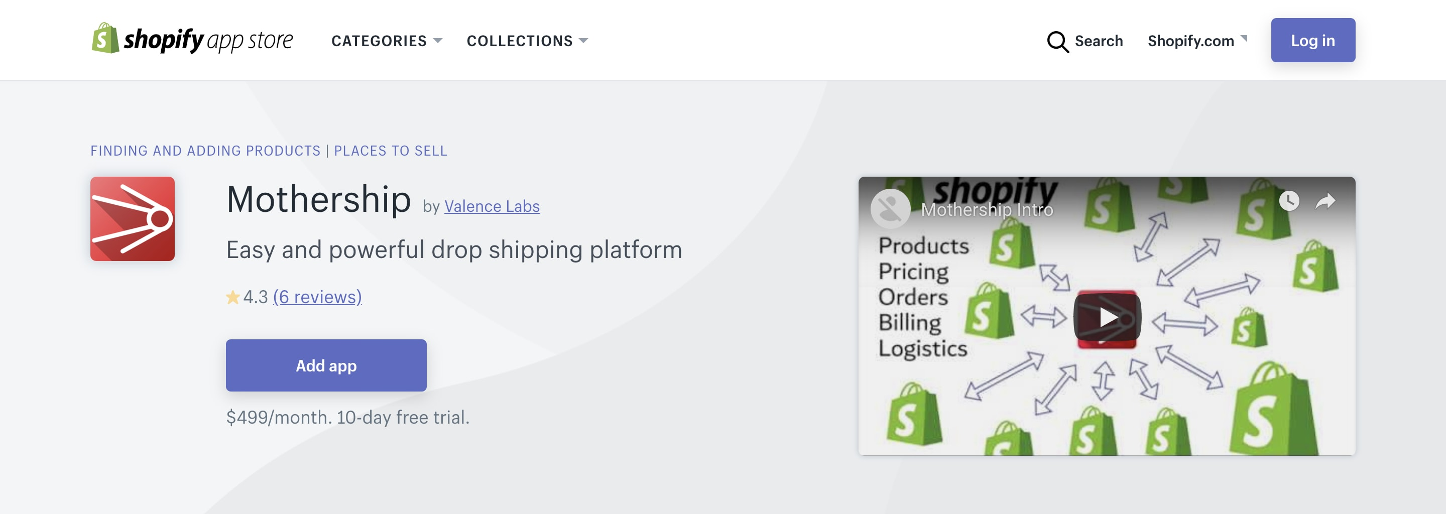 Shopify Mothership channel.