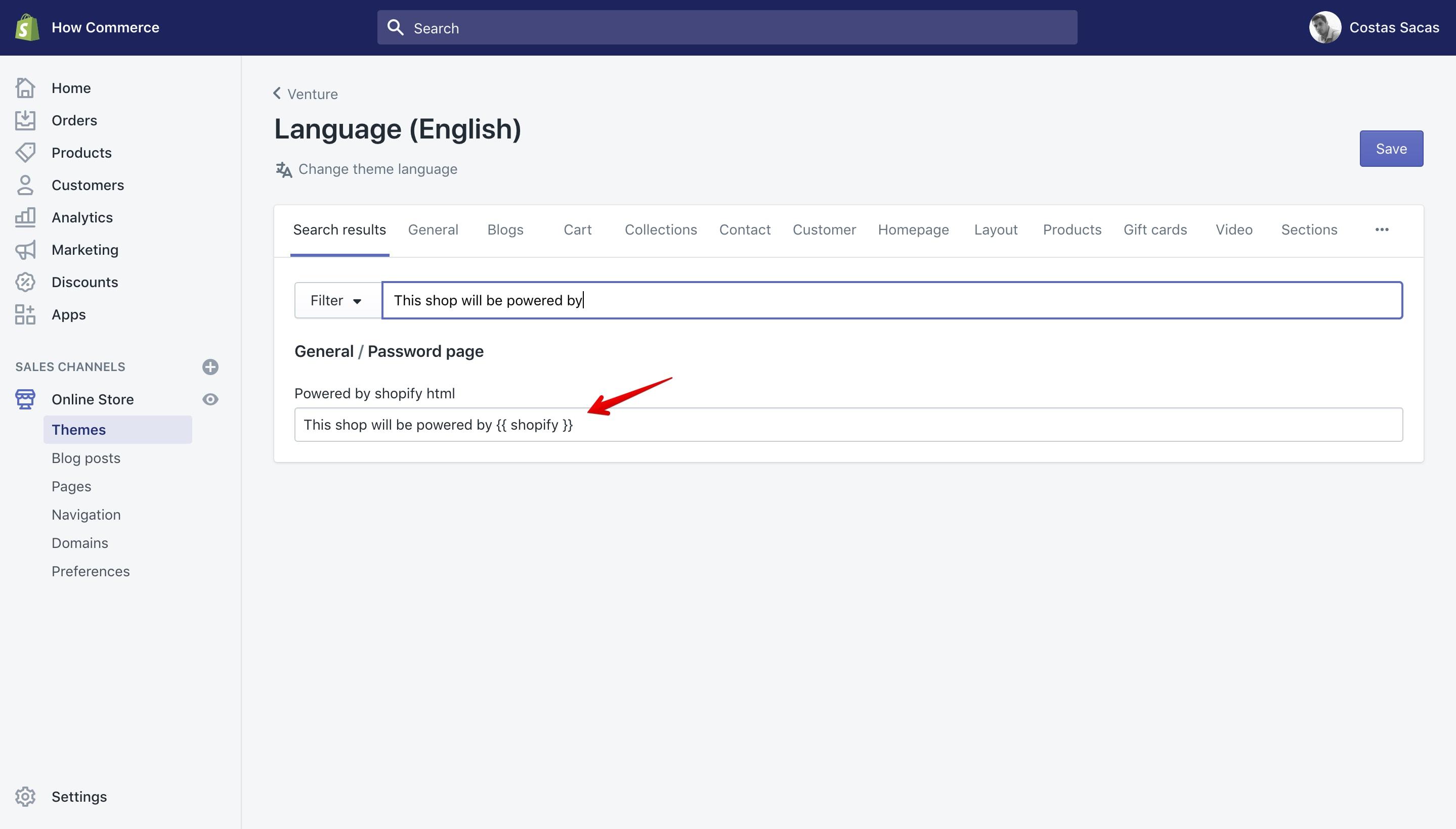 Venture theme remove offline page copyright text.