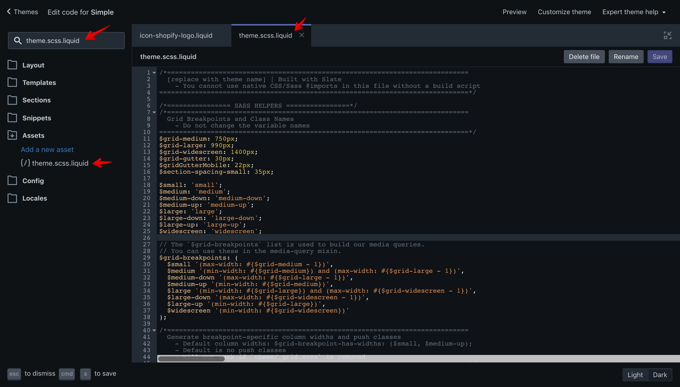 """Simple """"theme.scss.liquid"""" file. In this file are the theme styles."""