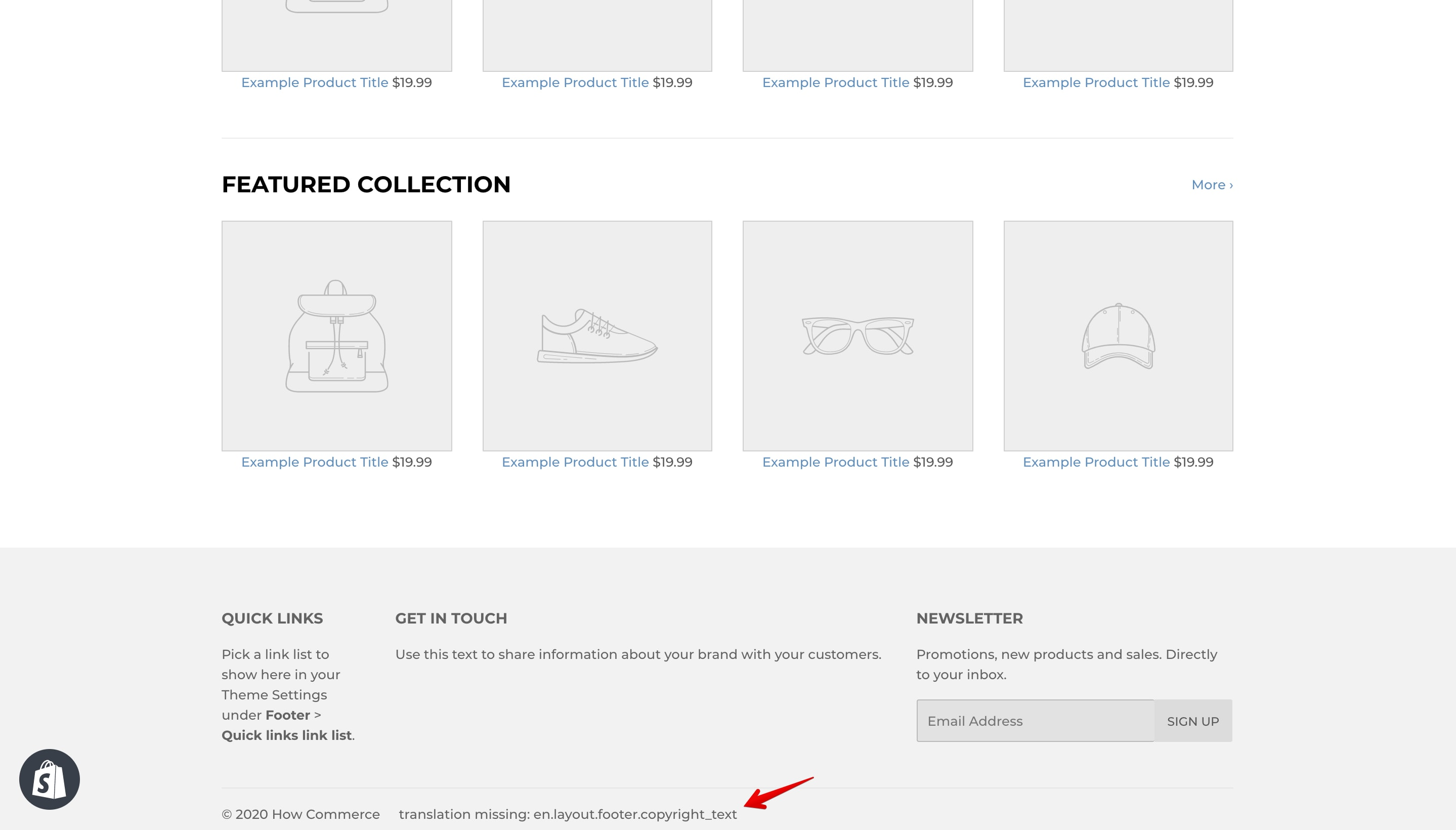 Supply theme new copyright code error.