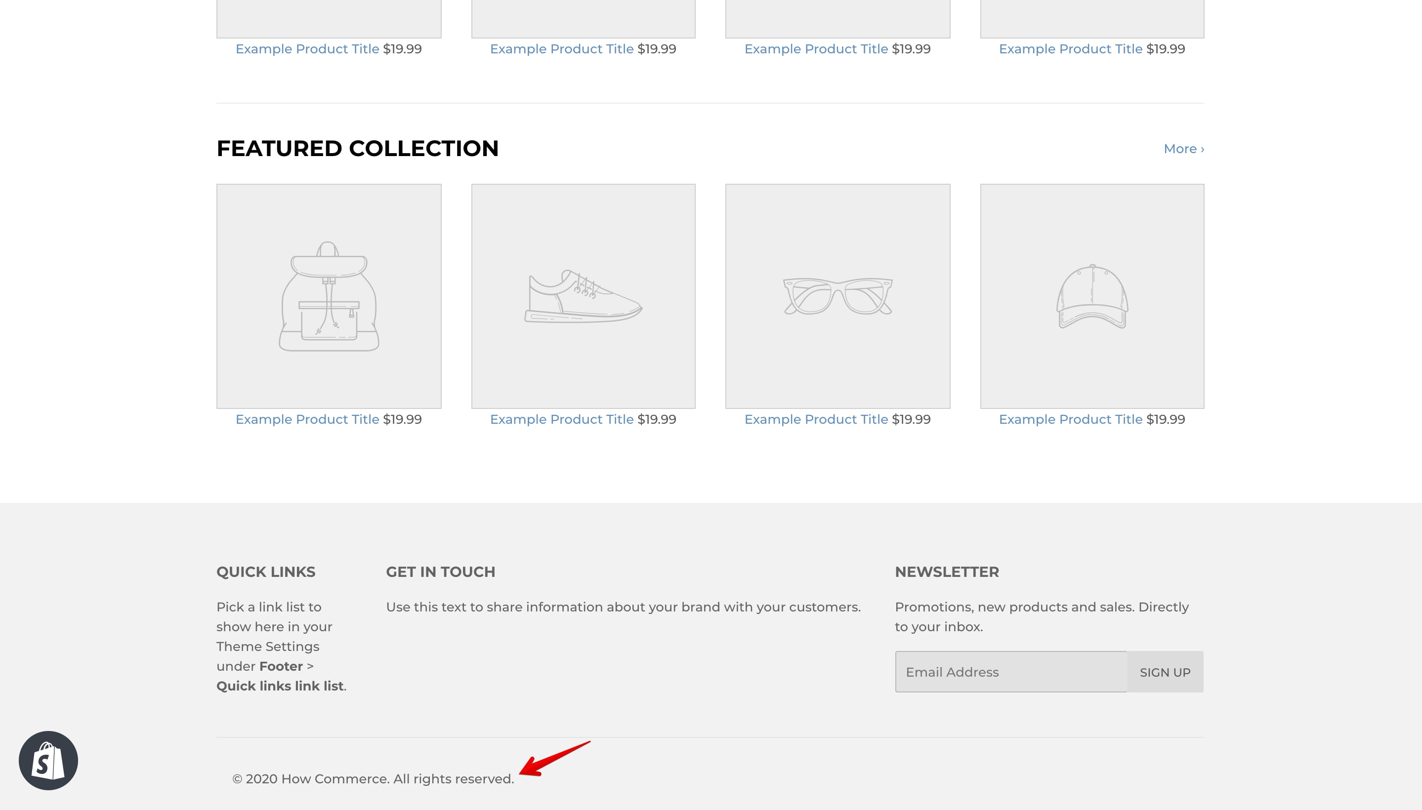"""Supply theme """"Powered by Shopify"""" copyright replaced."""