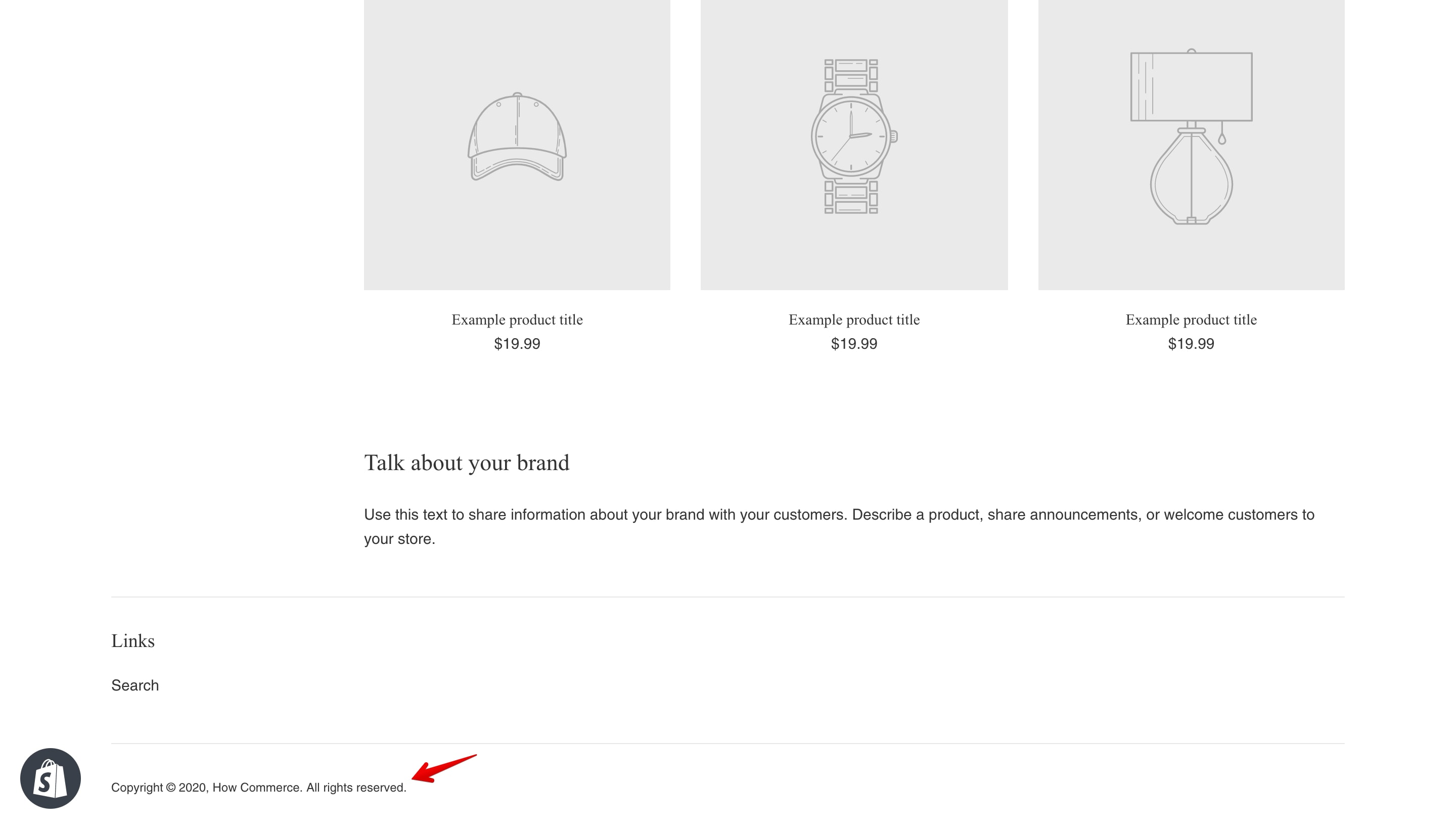 """Simple theme """"Powered by Shopify"""" copyright replaced."""