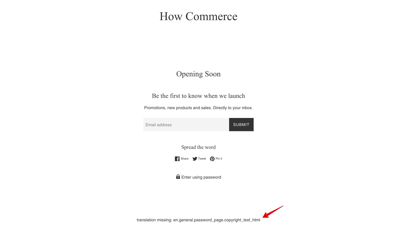 Simple theme offline page new copyright code error.