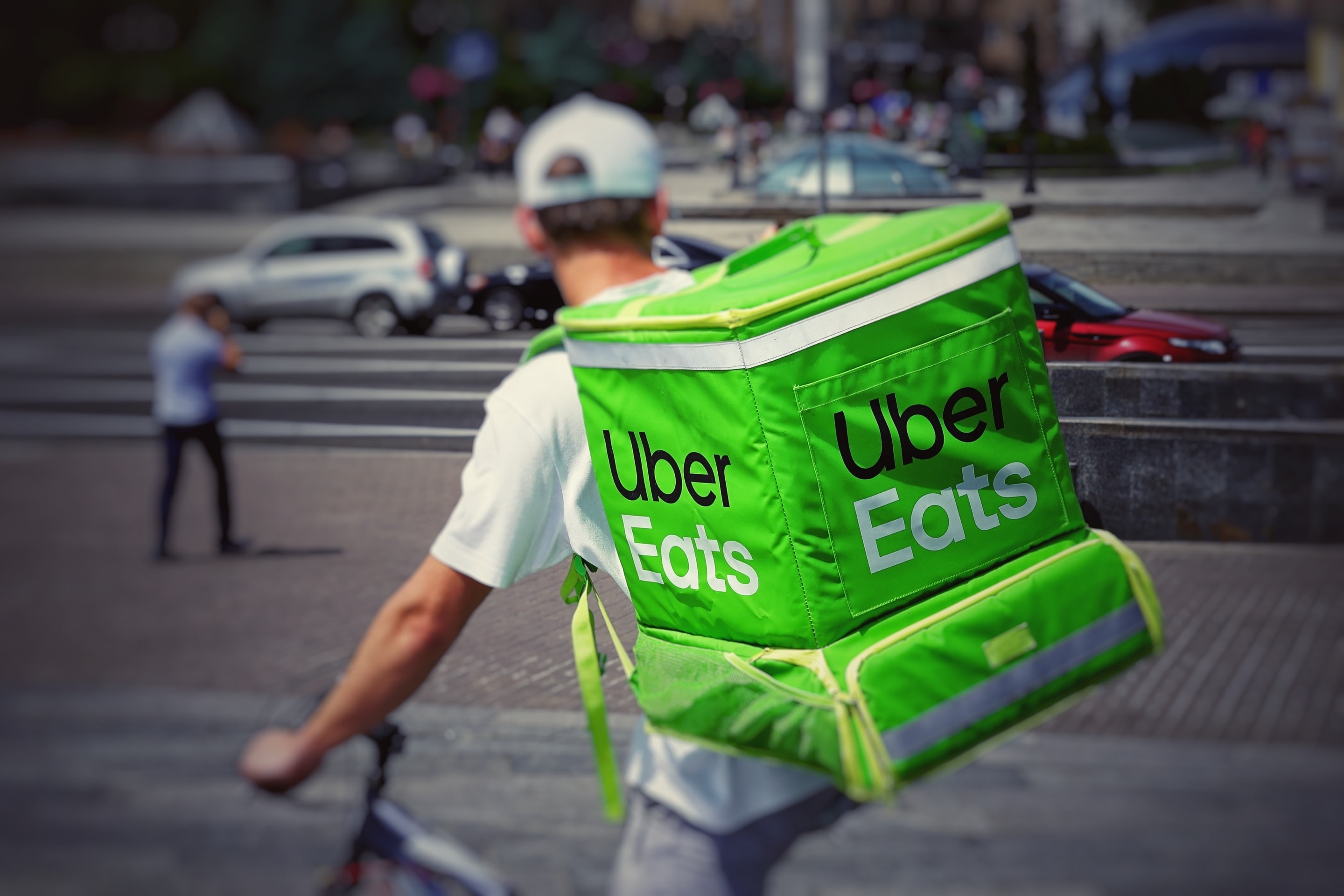 An UberEats delivery guy.